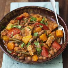 Slow cooked pork, bean and butternut casserole | Healthy Recipe | Weight Watchers UK
