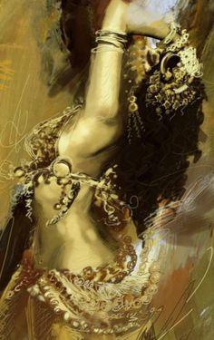 "Saatchi Art Artist Corporate Art Task Force; Painting, ""Belly Dance 003B"" #art"