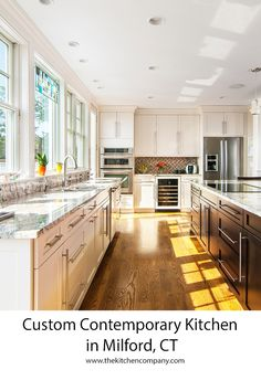 Custom Cherry Kitchen in Guilford, CT | Kitchen Remodeling Companies ...