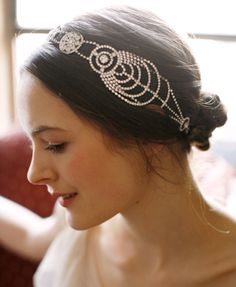 It wouldn't be too pretentious to wear this every single day, would it? Because I think I love it that much.    Jennifer Behr :: Hair Accessories