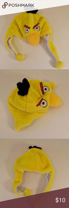 Angry Birds Plush Hat Adult Size Yellow Angry Birds Plush Hat Adult Size  Yellow unbranded Accessories 729b3b65df86
