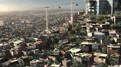 Salve Jorge - Favela Fly-Through, BG Matte Painting Matte Painting, Paris Skyline, Concept Art, I Am Awesome, Digital Art, Illustration, Conceptual Art, Illustrations, Character Illustration
