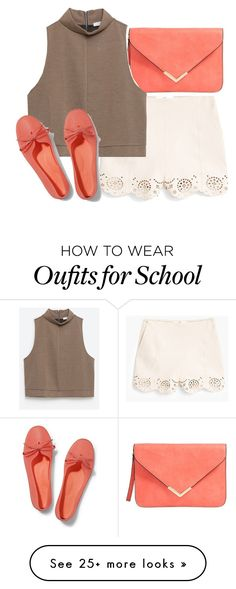 """""""I hate school comment if you do too"""" by ily-fashion on Polyvore featuring MANGO, Zara and Keds"""