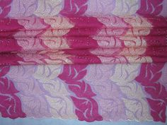 Leaf Stone French Lace Fabric-8