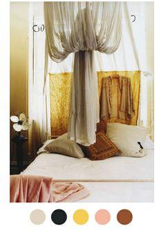 bedroom color palette-- guest room colors, southwest theme