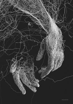 Impressive 3D Illustrations Experimenting Lines by Janusz Jurek – Fubiz Media