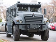 The Montreal Police department's new armoured vehicle