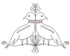Lovebirds Linework - 2 Styles, 2 Sizes! | Featured Products | Machine Embroidery Designs | SWAKembroidery.com