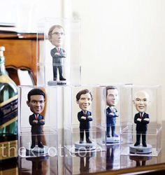 personalized bobble head of the groomsmen - could be a cool groomsmen gift #wedding ~ Especially if we caricature-ize them ;-)