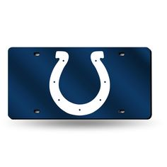 indianapolis colts nfl laser cut license plate tag