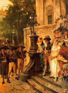 La boda. (1875), Colección particular. José Villegas Cordero. Madrid, 1844 – 1921.