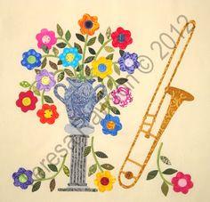 "FABRIC THERAPY: ""Baltimore Rhapsody"" Block #8 - the trombone"