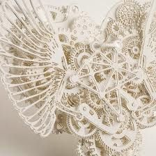 Mechanical paper sculpture - Consider how to create texture by putting detail into each paper section.