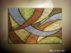Lourds texture originale abstraite Painting.Modern par NataSgallery
