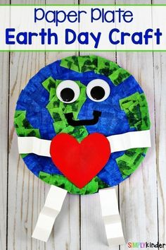How To Make A Paper Plate Earth Day Craft - Simply Kids Celebrate The Day Of . - How To Make A Paper Plate Earth Day Craft – Simply Kids Celebrate Earth Day this year by making t - Kids Crafts, Arts And Crafts, Earth Day Projects, Projects For Kids, Art Projects, Sewing Projects, Earth Craft, Earth Day Crafts, Planet Crafts