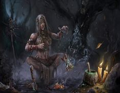 fantasy swamp | Swamp Witch - witch, swamp, voodoo doll, fire, ghosts
