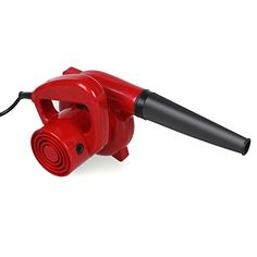 600W Electric Handheld Leaf Blower Dust Vacuum Cleaner for Shop Garage Garden, Red. For product info go to:  https://www.caraccessoriesonlinemarket.com/600w-electric-handheld-leaf-blower-dust-vacuum-cleaner-for-shop-garage-garden-red/