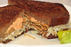 Possibly the best Vegan Reuben Sandwich you will ever taste! It's amazing!