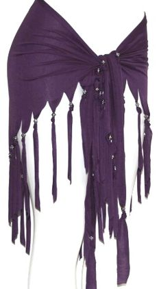 Would probably be easy to make. PURPLE FRINGE Tribal Fusion Belly Dance Dancing Burlesque Gothic Hip Scarf Belt | eBay