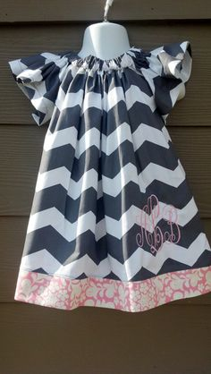 Adorable Flutter Sleeve Chevron Dress by gumdropstop on Etsy, $35.00