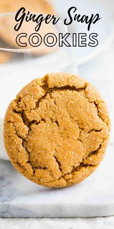 Ginger snap cookies are soft and chewy on the inside with a crisp exterior. The combination of ginger and cinnamon provides a sharp distinctive flavor that everyone will love! A perfect big-batch recipe for cookie exchanges, potlucks, and the Holidays. Baking Recipes, Cookie Recipes, Dessert Recipes, Desserts, Party Recipes, Ginger Molasses Cookies, Ginger Snap Cookies, Easy Party Food, Party Food And Drinks