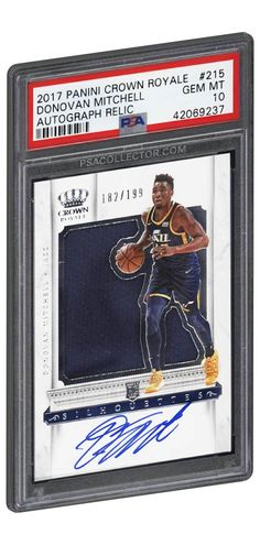 9dde110f8 2017 Panini Crown Royale Autograph Relic Donovan Mitchell Rookie Card  215  RC PSA GEM MINT 10.  DonovanMitchell  UtahJazz  BasketballCards  PSAGRADED   PSA10 ...