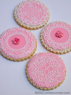 """Round lace cookies 3.5"""""""