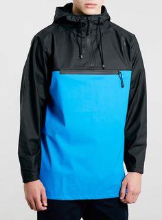 Rains Two Tone Waterproof Anorak - Men's Jackets & Coats - Clothing - TOPMAN USA