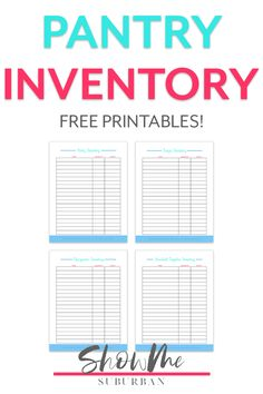 Up your household management game with these cute printable kitchen inventory sheets! Learn how to create and use a kitchen inventory. Includes labeled sheets for pantry, freezer, refrigerator, and household items. Plus, they're free! Management Games, Home Management Binder, Low Calorie Snacks, Low Calorie Recipes, Organized Kitchen, Kitchen Organization, Pantry Inventory, Healthy Foods, Healthy Recipes