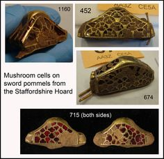 Fig. 12: mushroom cells on sword pommels from the Staffordshire Hoard