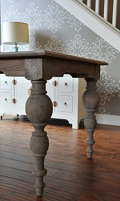 BEAUTIFUL DIY restoration hardware table :) Love love love it!!!