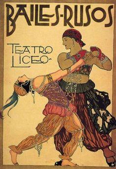 Vintage Russian Ballet Bailes Rusos Giclee Art Print WIth Stretched Canvas… Belle Epoque, Vintage Advertisements, Vintage Ads, Léon Bakst, Alfons Mucha, Ballet Beau, Ballet Posters, Dance Posters, Art Posters