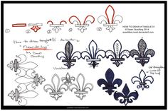 How to Tangle 31 Fleur-de-Lys quaddles-roost by Quaddles-Roost on ...