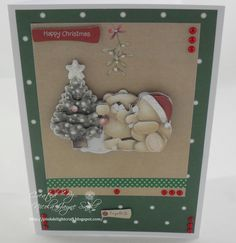 Docrafts Forever Friends Christmas Card Forever Friends Cards, Christmas Ideas, Christmas Cards, Goodies, Crafty, Frame, Projects, Handmade, Inspiration