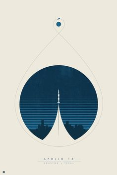 """""""Apollo 13 Limited Edition Poster Designed by Justin Van Genderen"""" smith.gl/2faWyhN"""
