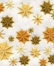 "Purl & Loop — ""Star Bursts"" Crewel Embroidery Kit"
