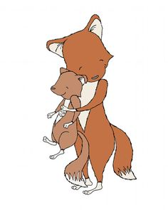 Hey, I found this really awesome Etsy listing at https://www.etsy.com/listing/211745303/fox-art-fox-mama-and-baby-hugs-woodland