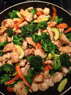 chines food Prepped Lunches, Kung Pao Chicken, My Recipes, Broccoli, Good Food, Meat, Vegetables, Ethnic Recipes, Foods