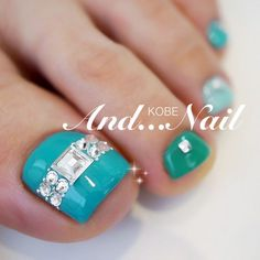 AquaBlue Toe Nail Rhinestone