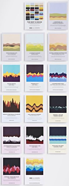 Taking soundwaves as a graphic cue, Studio Output has designed a set of colourful postcards to promote a series of upcoming BBC Concert Orchestra events at London's Southbank Centre...