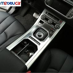 61.60$  Buy here - http://aliato.shopchina.info/go.php?t=32788124490 - For Land Rover Range Rover Evoque 2013-2016 Accessories Center Console Gear Panel ABS Chrome Decorative Cover Trim Car Styling 61.60$ #magazineonline