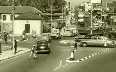 Traffic circle, Voortrekker road,Cape Town 1951.   by Etiennedup