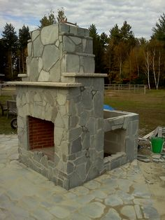 Pizza Oven to go on Back of this Fire Place this spring