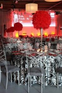 I LOVE these centerpieces!  The slender, extremely tall, and dramatic look are just what would make any room pop with only 3-5.