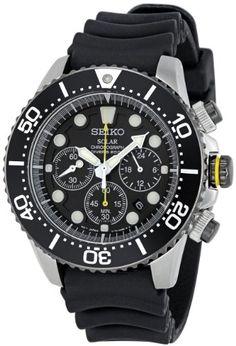 Amazon.com: Seiko Men's SSC021 Solar Diver Chronograph Watch: Seiko: Watches $195