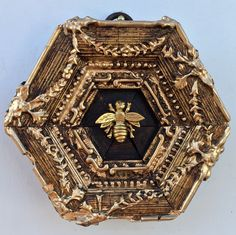 """Gilt Wooden Frame with Napoleonic Bee (3.75"""" wide)"""