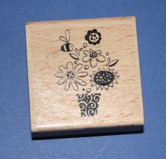 NEW Stampendous Ooo-La-La-Bouquet Wooden Backed Rubber Stamp. Flower Quotes, Mothers Day Crafts, Flower Power, Stamps, Bouquet, Floral, March, Ebay, Seals