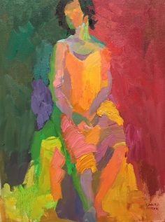 Girlfriend by Larisa Aukon Oil ~ 16 x 12