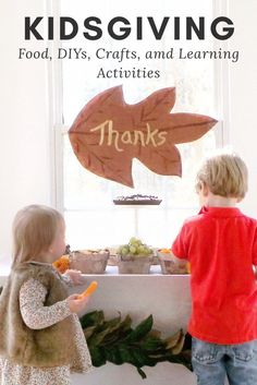 Kids Thanksgiving with Food, Crafts, and Learning Activities #thanksgiving, #kidscrafts, #kidsparty