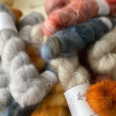 In need of a hug? Here comes one with silky mohair fluffiness. ⁠ These new beauties are Röyhetyinen silk mohair from @louhittarenluola⁠ ⁠ #silkmohair ⁠#mohairyarn #knitting #lankakauppatitityy #weshipworldwide